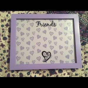 4x6 purple picture frame